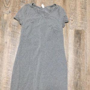 Old navy gray cotton/stretchy dress